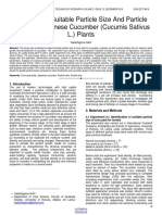 Selection of Suitable Particle Size and Particle Ratio for Japanese Cucumber Cucumis Sativus L Plants