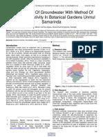 Study Aquifer of Groundwater With Method of Electrical Resistivity in Botanical Gardens Unmul Samarinda