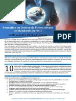 Flyer 1 Page Formation en Gestion de Projet 03 Octobre 2016