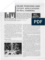 Inline Punching and Cutoff Applications in Roll Forming