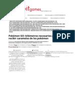 Pokémon GO_ Kilómetros Necesarios Para Recibir Caramelos de Los Pokémon