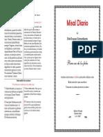 Misal Dominical para imprimir