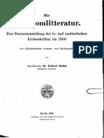 Carcinomlitteratur - Eine Zusammenstellung Der in- und ausländischen Krebsschriften Bis 1900 - Dr. Robert Behla