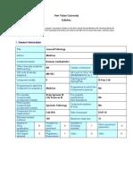 Syllabus  - General Pathology.docx