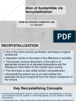 Purification of Acetanilide via Recrystallization