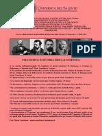 Seminari Filosofia e Storia Della Scienza (Castellana) Locandina 2017