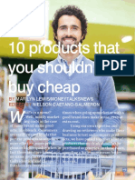 10 things that you should never buy cheap