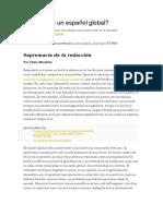 Es Posible Un Español Global. Por Fabio Morábito