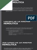 Anemia Hemolitica Juanito