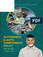 Andhra Pradesh Automobile and Auto Components Policy 2015-20