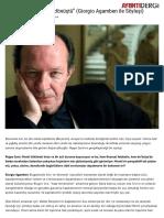 """""""Tanrı Ölmedi, Paraya Dönüştü"""" (Giorgio Agamben Ile Söyleşi) _ Ayrıntı Dergi"""