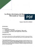 Firma Electrónica Del Registrador Mercantil - Ucv_2009_133_159-184