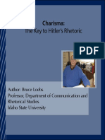 Charisma the Key to Hitlers Rhetoric