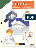 Lithonia Hi-Tek Indoor & Outdoor Lighting Catalog 1980