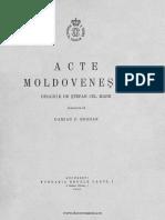 Acte Moldovenești Dinainte de Ștefan Cel Mare-damian p. Bogdan