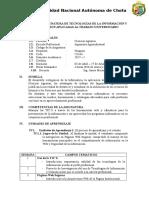 Sílabo de La Asignatura de Tecnologías de La Información y Comunicación Aplicadas Al Trabajo Universitario