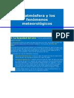 La Atmósfera y Los Fenómenos Meteorológicos Nubes