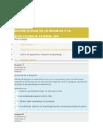 Respuestas a Evaluación Final Psicopatología de la infancia y adolescencia