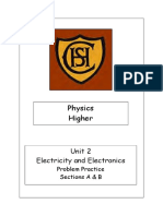 Electricity and Electronics Past Papers