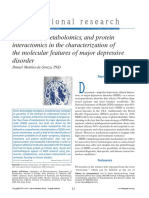 Proteomics, metabolomics, and protein interactomics in the characterization of the molecular features of major depressive disorder..pdf