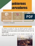 GOBIERNOS CONSERVADORES