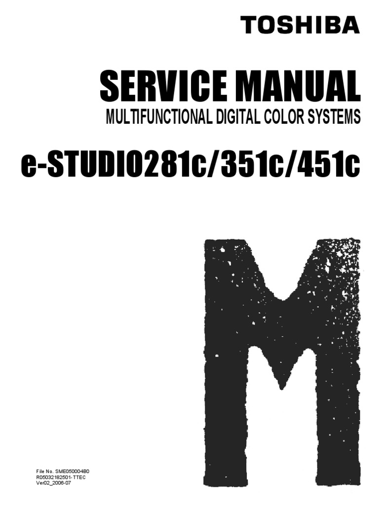 Toshiba E-STUDIO281c 351c 451c Service Manual V02 | Microsoft Windows |  Power Supply