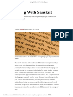 Living With Sanskrit _ the Indian Express