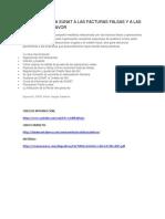 Auditoria Facturas Falsas y a Las Facturas de Favor