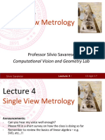 Lecture4 Single View Metrology