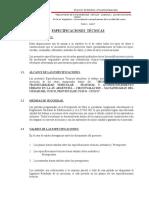 2.- Especificaciones técnicas