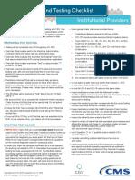 Icd-10 e2etesting Checklist