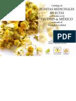 Catálogo de Plantas medicinales selectas cultivadas en la CdMx control de calidad.pdf
