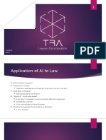 Application of Artificial Intelligence to the Law