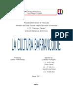 Ubicación Geográfica de La Cultura Barrancoide Trabajo