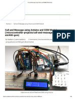 Call and Message Using Arduino and SIM900 GSM Module