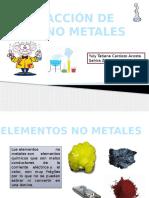 Reacción Con No Metales