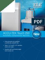 ACCU-TEK 250 Touch Automatic Compression Machine Brochure