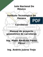 Manual de Proyecto Geometrico de Carreteras