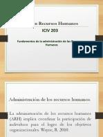 Clase 2, Funciones ARH