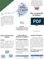 (Triptico)Plan de Desarrollo de Software