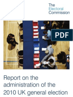 Report on the Administration of the 2010 UK General Election