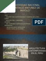 Aruitectura Contemporanea y Moderna en El Perú
