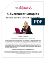 GOVERNMENT SAMPLES - Resumes, Selection Criteria & Cover Letters