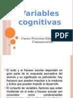 Variables Cognitivas Del Aprendizaje