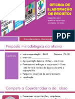 Idoso-Oficina Projetos Coordenadoria