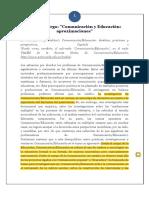 Huergo, Jorge. Comunicación y Educación Aproximaciones