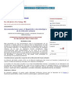 Recomendaciones Para El Diagnóstico Microbiológico de La Infección Urinaria