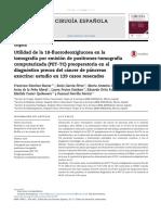 Utilidad Del Pet en Diagnostico Preoperatorio de CA de Pancreas Española