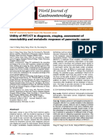 Utility of PETCT in Diagnosis, Staging, Assessment of Resectability and Metabolic Response of Pancreatic Cancer