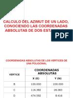 Calculo Azimut Conociendo Coordenadas de Dos Puntos